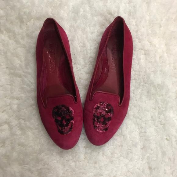 1ebd30661101f Alexander McQueen Shoes - Alexander McQueen Pink Suede skull loafers